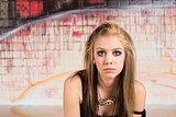 Pensive Urban Teen