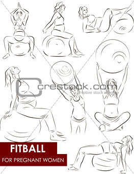 Fitball for pregnant women