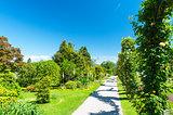 Public garden of Villa Taranto in Italy
