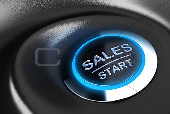 Business button, Sales Motivation