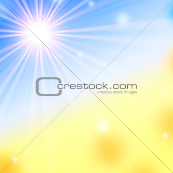 summer background with white sun