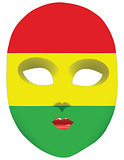 Flag mask Bolivia