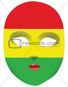 Flag mask Bolivia