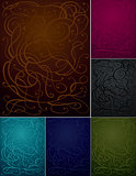 Abstract Ornament Backgrounds Set - Six Colors