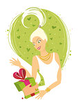 Woman Receiving Gift