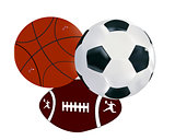balls soccer volley-ball regbi