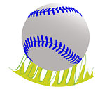 Baseball ball on grass