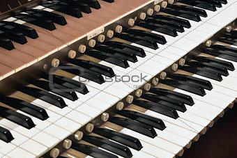 Church Pipe Organ Closeup