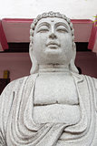 Stone Carved Buddha Sculpture Closeup