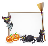 Halloween sign background