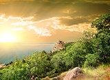 Mountain Iphigenia at dawn