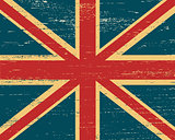 Vector shabby British flag.