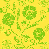 Bright floral ornate seamless pattern.