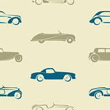 Seamless pattern with retro cars.