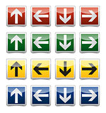 Danger arrow sign set