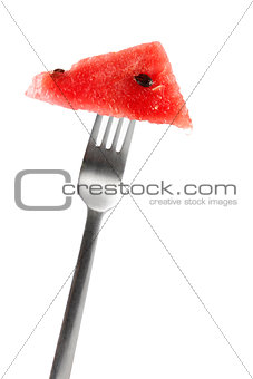 Watermelon and fork