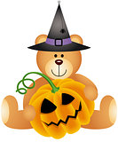 Halloween Teddy Bear with Pumpkin