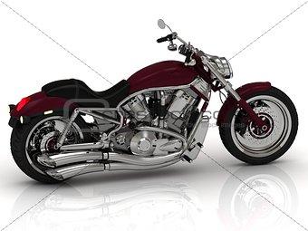 Beautiful road motorcycle