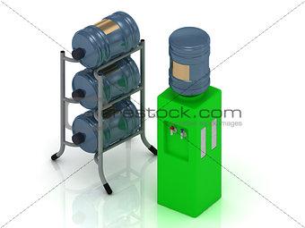 Green water cooler