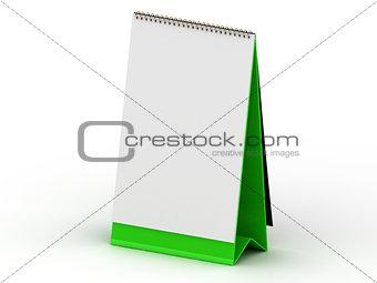 Green stand for calendar