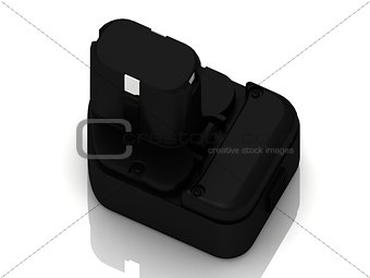 Black plastic battery from the screwdriver