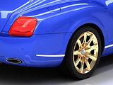 Premium blue car