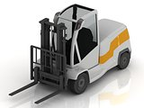 Electric Forklift isolated