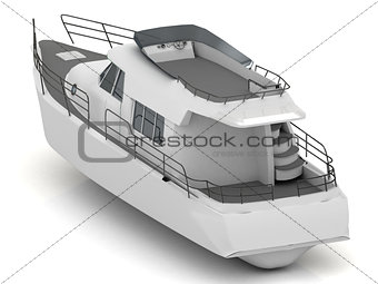 Premium motorized white yacht