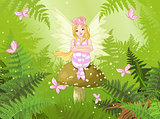 Magic fairy in forest