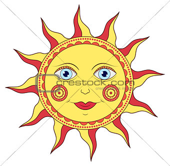 abstract cartoon sun