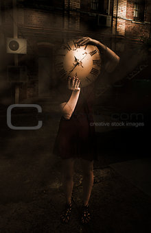 Person With Clock Face