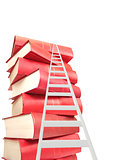 Ladder and books