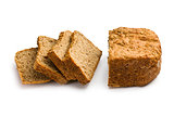 sliced homemade whole wheat bread