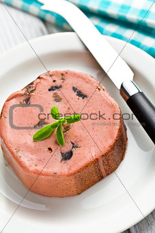 closeup of gourmet pate