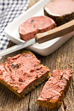 gourmet pate with bread