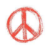 Red peace symbol