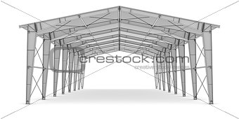 Sketch of industrial architecture
