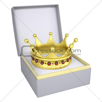 Crown in open gift box