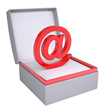 Email sign in open gift box