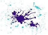purple and light blue splash painting