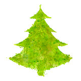 christmas tree with splash texture