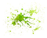 green painting Texture with splash