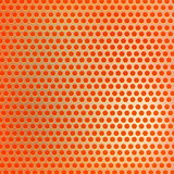 Retro orange hexagon dots background