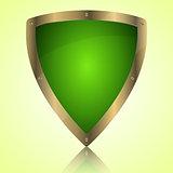 Triumph green shield symbol icon