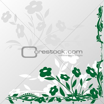 Abstract frame with flowers