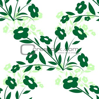 Background with abstract flowers-1