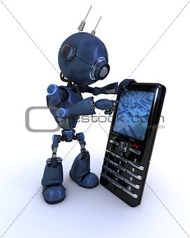 Android with cell phone