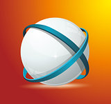 Abstract globe symbol internet and social network concept. Isola