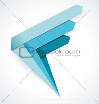 Business Abstract Arrows icon. Corporate, Media, Technology styl