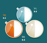 Modern business circle style options banner. Vector illustration
